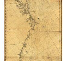 Map of North America Cape Cod to Havannah (1784) Sticker