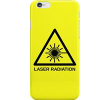 Laser Radiation Symbol  iPhone Case/Skin
