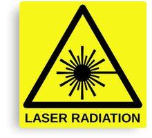 Laser Radiation Symbol  Canvas Print