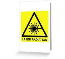 Laser Radiation Symbol  Greeting Card