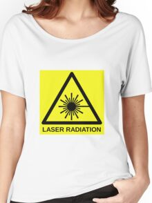 Laser Radiation Symbol  Women's Relaxed Fit T-Shirt