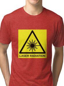 Laser Radiation Symbol  Tri-blend T-Shirt