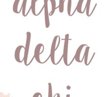 Alpha Chi Delta  Sticker
