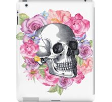 Floral skull print, Alternative Wedding gift, floral Anatomy poster, iPad Case/Skin