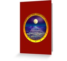 through the porthole Greeting Card