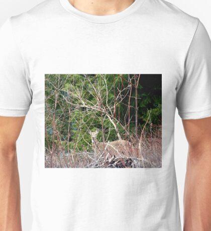 White Tailed Deer through Brush Unisex T-Shirt