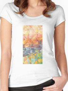 Stained glass. Women's Fitted Scoop T-Shirt