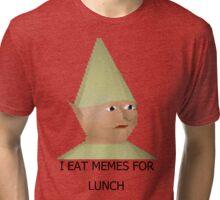 I eat memes for lunch Tri-blend T-Shirt