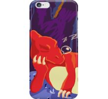 Sleeping Charmeleon iPhone Case/Skin