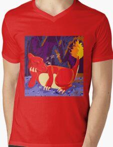 Sleeping Charmeleon Mens V-Neck T-Shirt