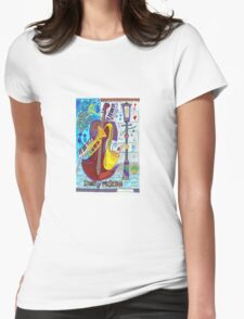 New Orleans street Musician Womens Fitted T-Shirt