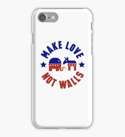 Make love, not walls iPhone Case/Skin