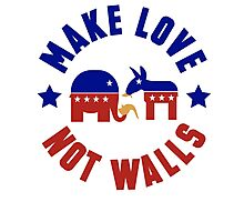 Make love, not walls Photographic Print
