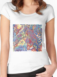 New Orleans the Beautiful Blues Women's Fitted Scoop T-Shirt