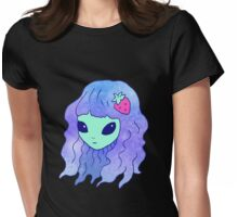Alien Babe Womens Fitted T-Shirt