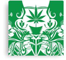 Cannabis Illustration in the Art Nouveau Style Canvas Print