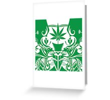Cannabis Illustration in the Art Nouveau Style Greeting Card
