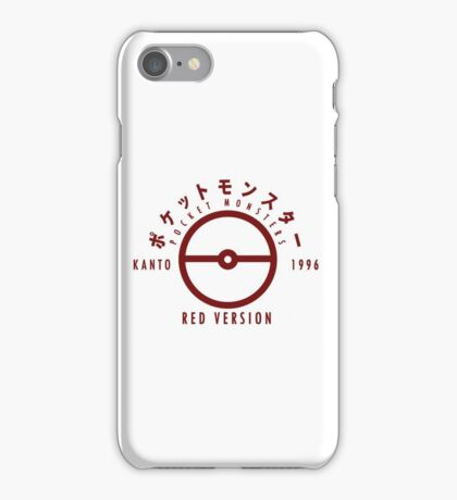 Pokemon Red Version iPhone Case/Skin