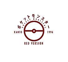 Pokemon Red Version Photographic Print