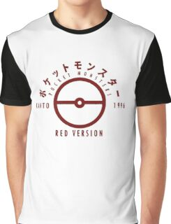 Pokemon Red Version Graphic T-Shirt