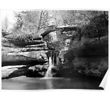 Stone Bridge over the Falls Poster