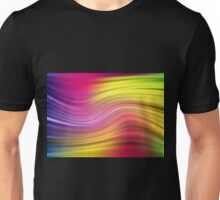 Abstract modern wavy flowing silk Unisex T-Shirt