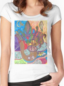 New Orleans gumbo Sax Women's Fitted Scoop T-Shirt