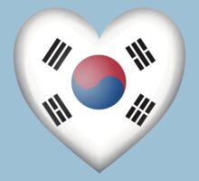 South Korean Heart Flag Baby Tee
