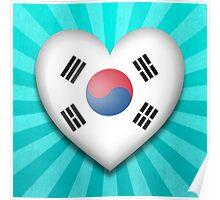 South Korean Heart Flag Poster