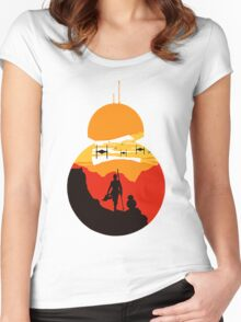 Star Wars VII - BB8 & Rey 2 Women's Fitted Scoop T-Shirt