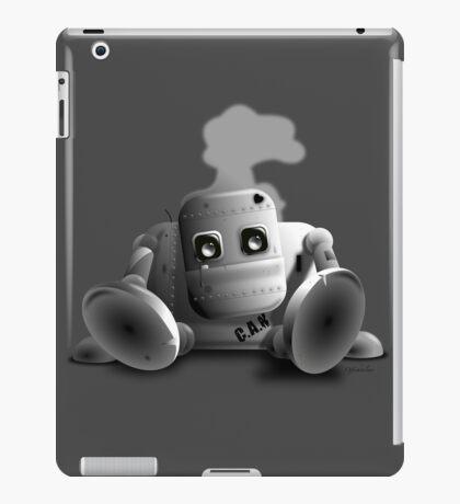 C.A.N the robot - cute tired robot iPad Case/Skin