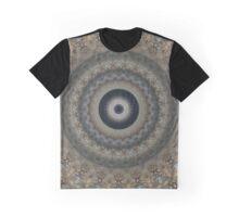 Grey and brown Mandala Graphic T-Shirt
