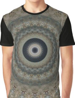Grey and brown Mandala Graphic T-Shirt