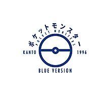 Pokemon Blue Version Photographic Print