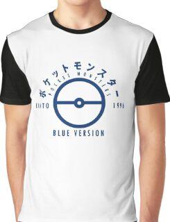 Pokemon Blue Version Graphic T-Shirt