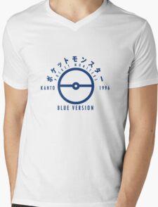 Pokemon Blue Version Mens V-Neck T-Shirt