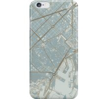 Barcelona Map (Winter) iPhone Case/Skin