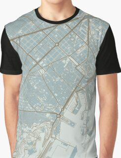 Barcelona Map (Winter) Graphic T-Shirt