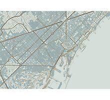 Barcelona Map (Winter) Photographic Print