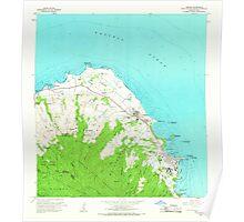 USGS TOPO Map Hawaii HI Kahuku 349334 1965 24000 Poster