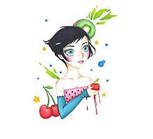 Fruit Girl  Photographic Print