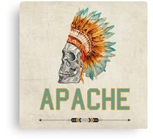 Apache Skullhead indians tribal feather Graphic T-shirt Canvas Print