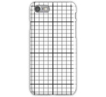 Grids Duvet Cover Simple Lined Bedspread Quilt iPhone Case/Skin