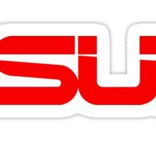 Red Asus Logo Sticker