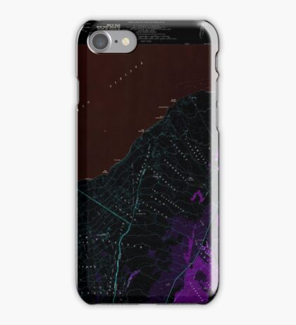 USGS TOPO Map Hawaii HI Pahala 349635 1981 24000 Inverted iPhone Case/Skin