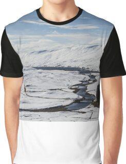 Scottish Highlands in Winter Graphic T-Shirt