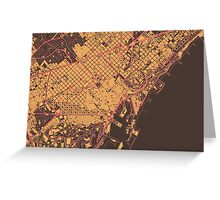 Barcelona Map (Summer) Greeting Card