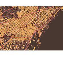 Barcelona Map (Summer) Photographic Print