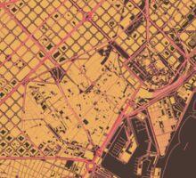 Barcelona Map (Summer) Sticker