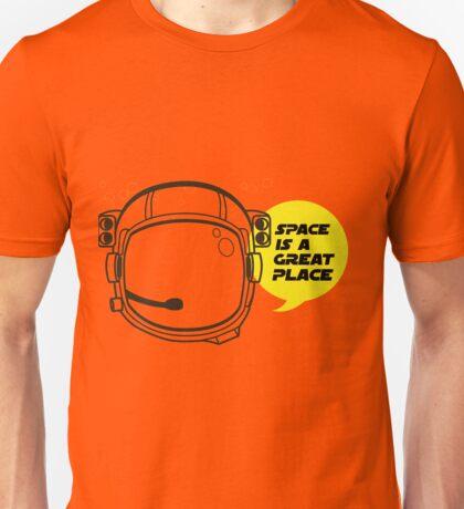 Space Helmet Astronaut Unisex T-Shirt